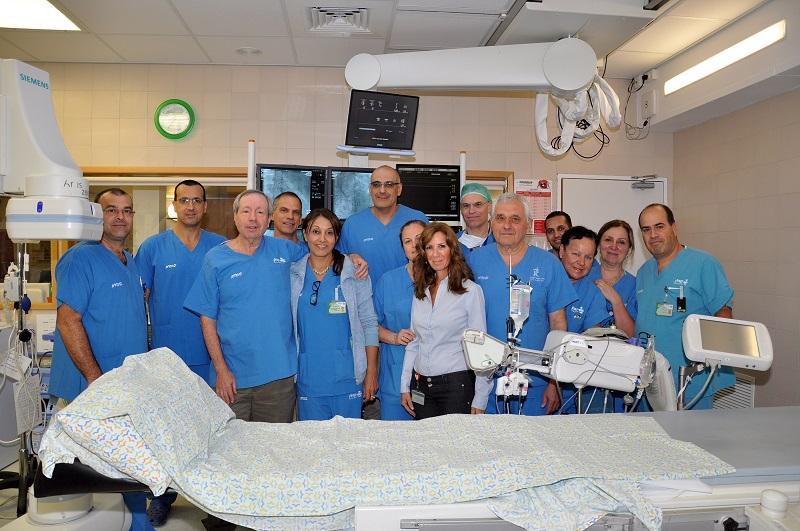צוות יחידת הצינתורים בקפלן (צילום: בית חולים קפלן)