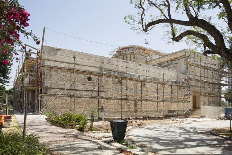 בית ויצמן במהלך עבודות השחזור (צילום: מיקלה ברסטו)